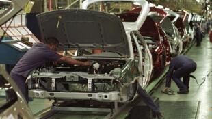 Una línea de montaje de Ford en la planta de Sao Bernardo do Campo, en el estado brasileño de Sao Paulo