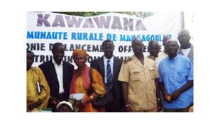 Des membres de l'aire marine du patrimoine communautaire à Mangagoulack, au Sénégal.