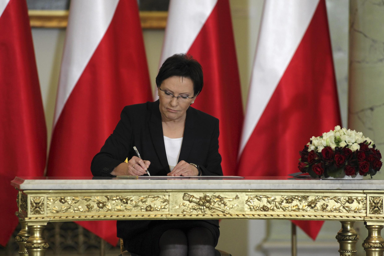 Эва Копач, премьер-министр Польши. Варшава 22/09/2014