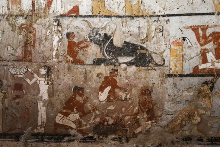 Detalle de uno de los murales de la tumba de la sacerdotisa Hetpet.