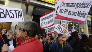 Митинг против мафии в Испании. Мадрид. Апрель 2015.