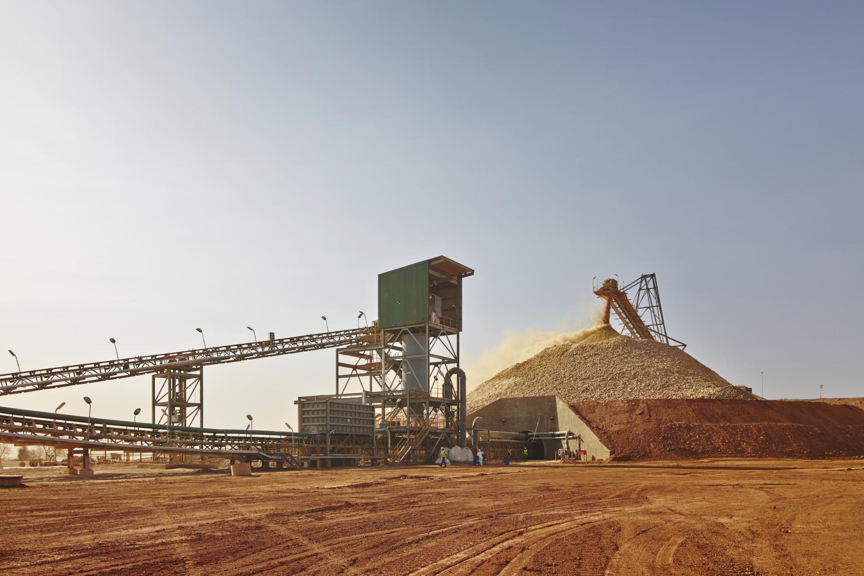Exploitation d'une mine d'or, au Burkina Faso.