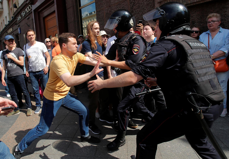 На акции в центре Москвы 27 июля