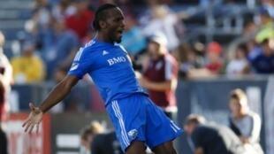 Didier Drogba dhidi ya klabu ya Philadelphia Union, Agosti 22, 2015 mjini Montreal.