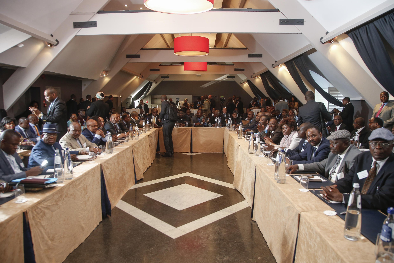 L'opposition congolaise réunie en conclave, à Bruxelles, Belgique, le 8 juin 2016.