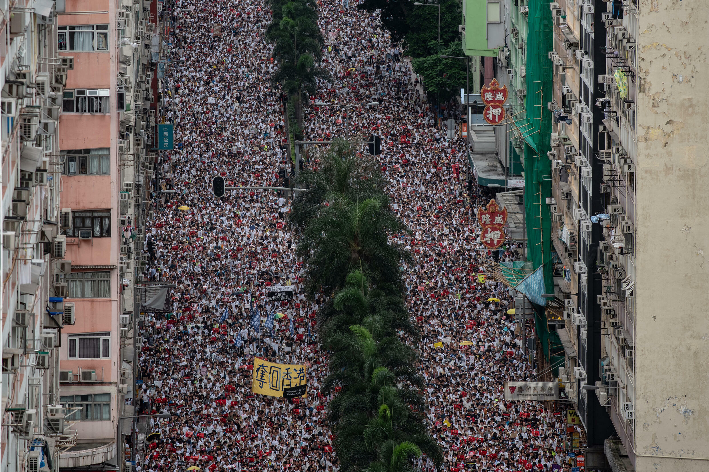 The CHRF routinely got crowds of hundreds of thousands, if not more than a million, onto the streets of Hong Kong