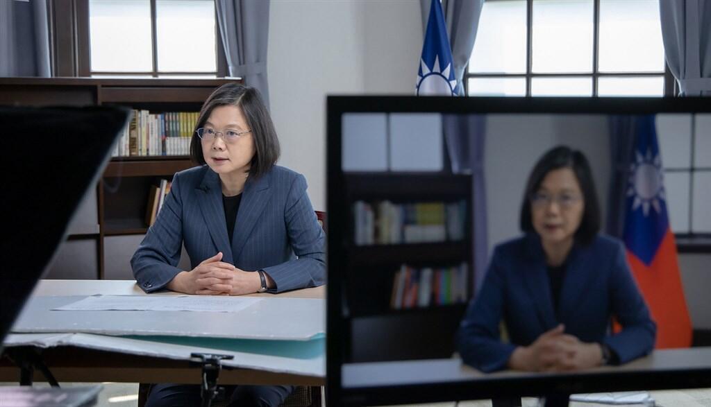 台灣總統蔡英文2021年5月10日在第4屆「哥本哈根民主高峰會」視訊會議發表演說,