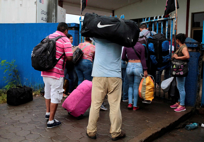 Refugiados nicaraguenses na cidade de Penas Blancas, na Costa Rica, em 26 de julho de 2018.