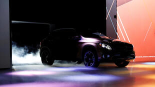 Lors de la présentation d'un véhicule au salon international de l'automobile de Detroit, le 8 janvier 2017.