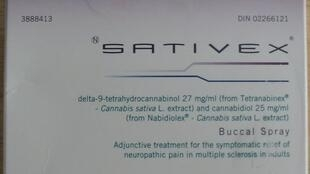 Sativex (Nabiximols), um spray bucal a base de maconha.
