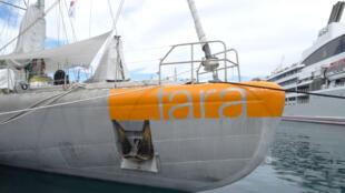 Tara à quai à Papeete.