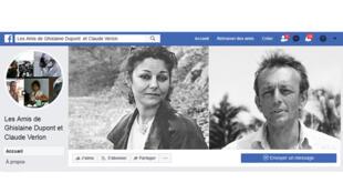 La page Facebook Les amis de Ghislaine Dupont et Claude Verlon.