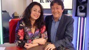 Marcela Roggeri y Jordi Batallé en el estudio 51 de RFI