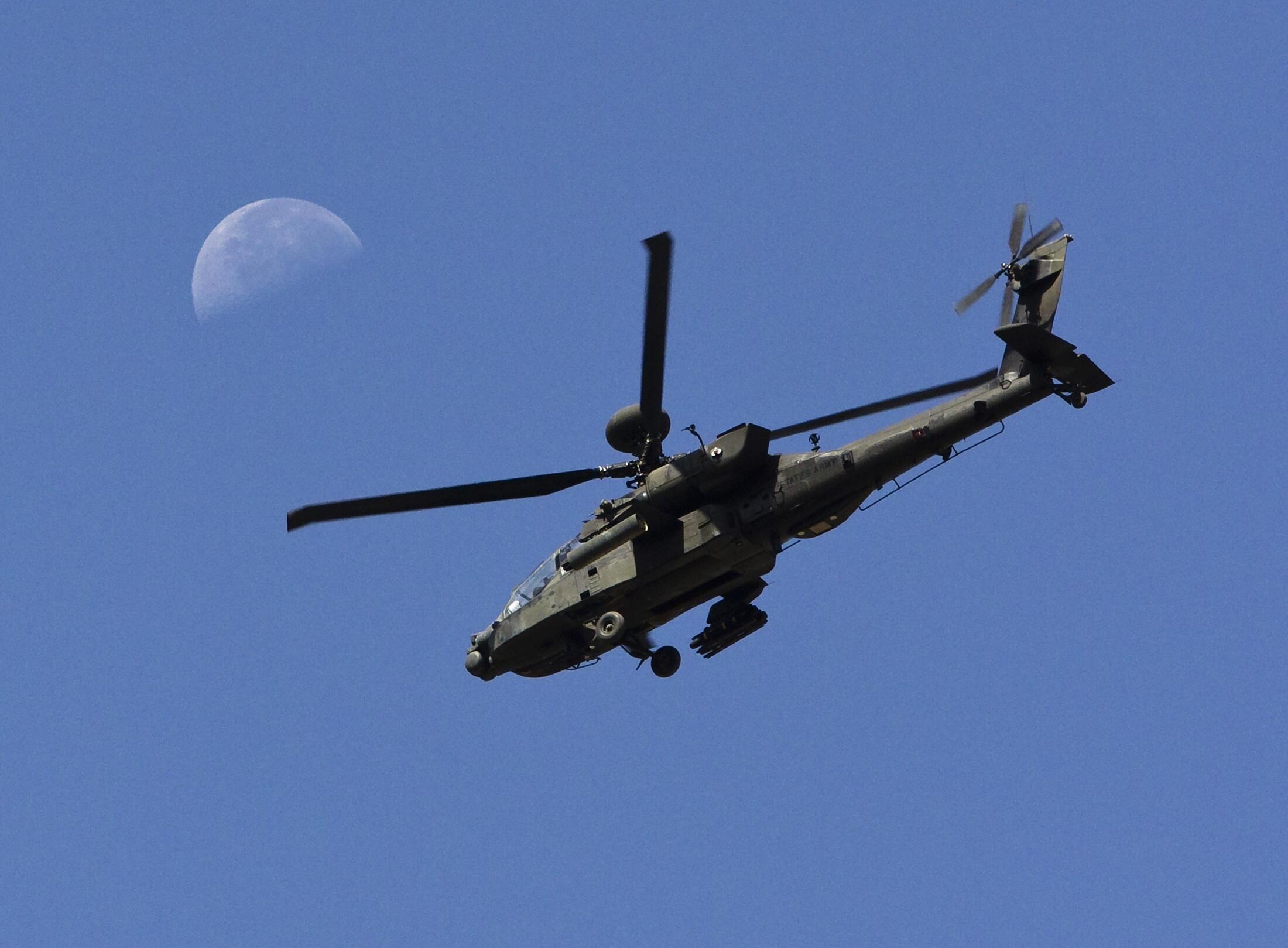 Một chiếc trực thăng Apache của Hoa Kỳ.