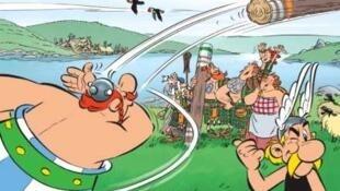 Обложка комикса об Астериксе и Обеликсе