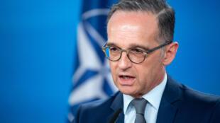 El ministro alemán Heiko Maas habla durante una rueda de prensa el 1 de junio de 2021 en Berlín