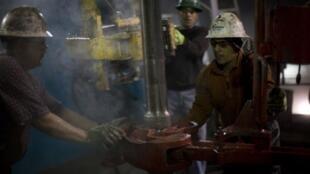 Une exploitation du gaz de schiste à Fort Worth, aux Etats-Unis.