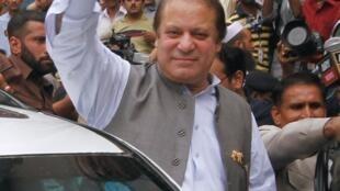 L'ancien Premier ministre Nawaz Sharif à Lahore, ce samedi 11 mai 2013.