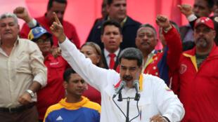 委內瑞拉官派總統馬杜羅資料圖片