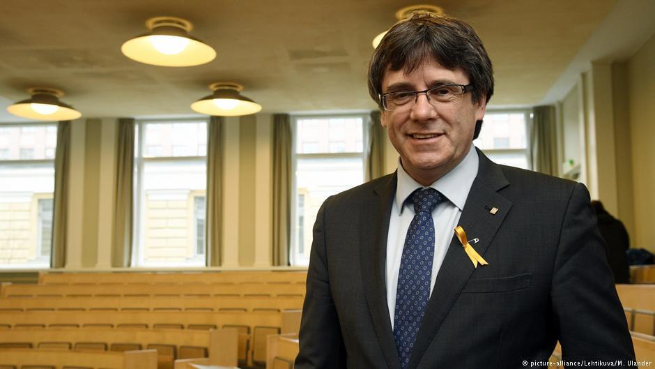 加泰罗尼亚自治区前领导人普伊格蒙特(Carles Puigdemont)
