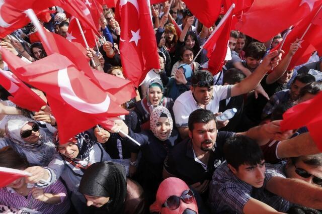 Masu zanga zanga a birnin Ankara dake kasar Turkiya