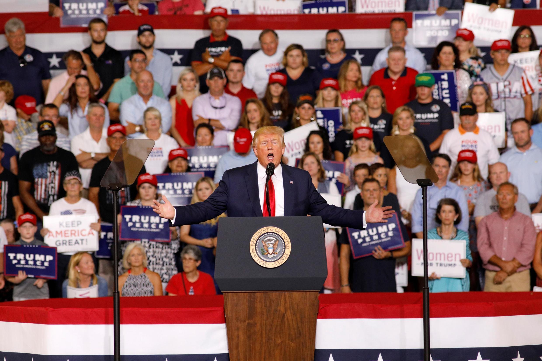 Donald Trump à Greenville en Caroline du Nord, 17 juillet 2019.