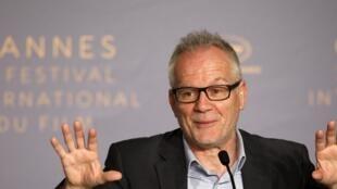 Thierry Frémaux, délégué du festival de Cannes en conférence de presse, le 7 mai 2018.