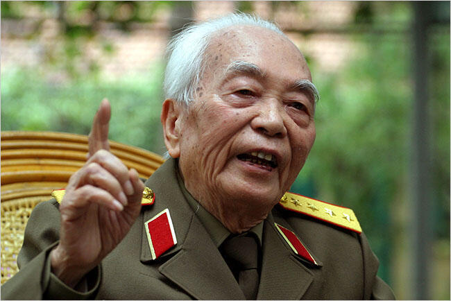 Đại tướng Võ Nguyên Giáp. Ảnh báo Việt Nam.