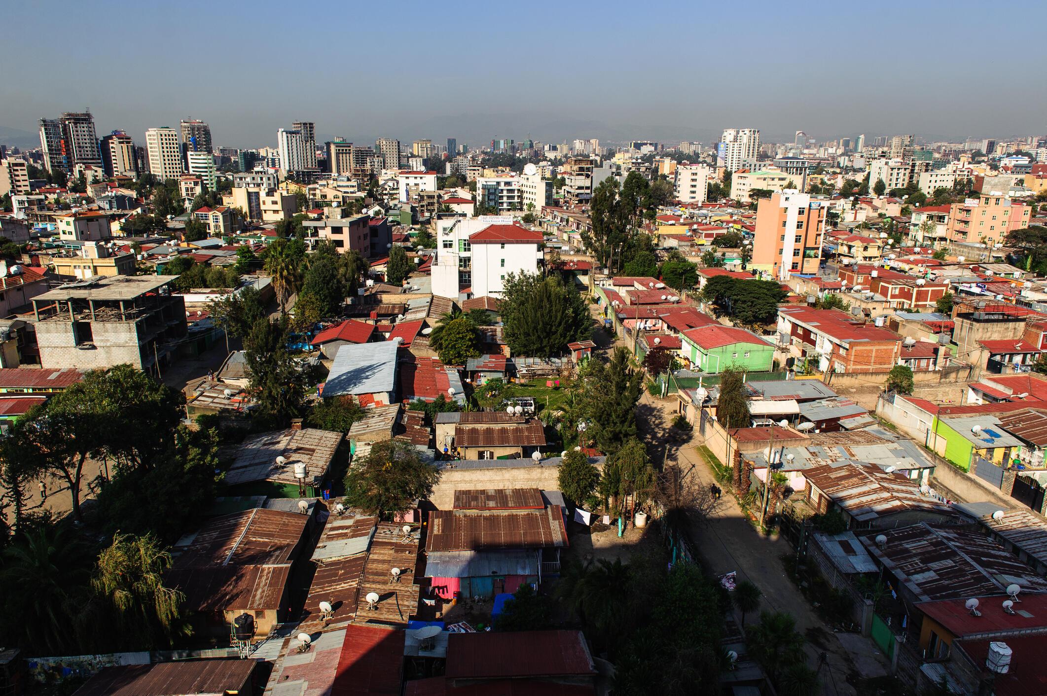 Une vue d'Addis-Abeba, la capitale de l'Ethiopie (photo d'illustration).