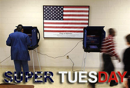 Một phòng phiếu tại bang Georgia nhân ngày Super Tuesday (RFI)