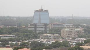 Vue de la ville d'Accra, au Ghana.