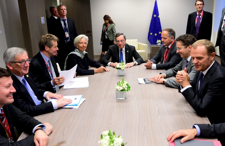 Reunião do Eurogrupo e FMI, antes da cimeira de chefes de estado e de governo, de 22 de junho, em Bruxelas, sobre a crise da Grécia.