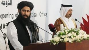 Muhammad Naeem, porta-voz dos talibãs em Doha