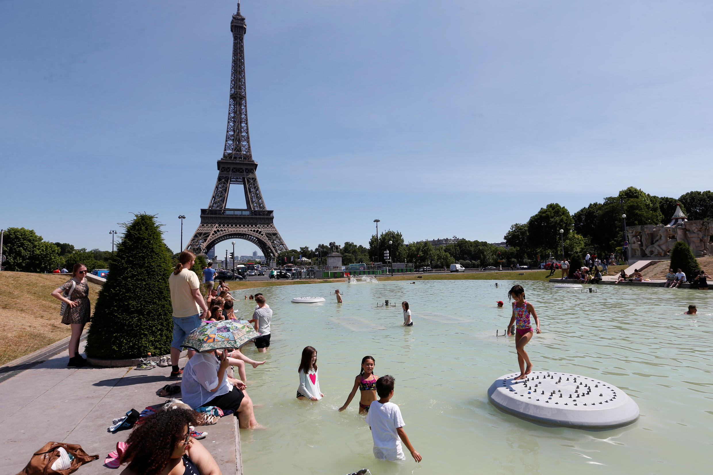 Сады Трокадеро в Париже, 19 июня 2017 года.