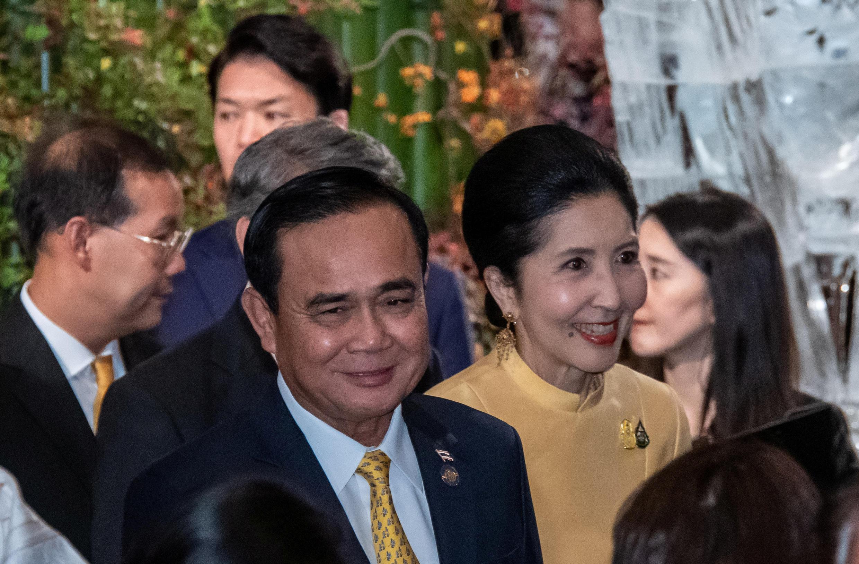 Thủ tướng Thái Lan Prayut Chan O Cha trong cương vị chủ nhà thượng đỉnh ASEAN lần thứ 35.