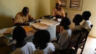 Chuo cha kidini (madrasa) katika mji wa Gabu, Guinea-Bissau, Desemba 14, 2008.