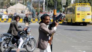 rebeldes chiitas hutíes celebran una victoria contra las fuerzas  del ex presidente asesinado Saleh