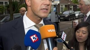 Mark Rutte, kiongozi wa chama vha VVD nchini Uholanzi.