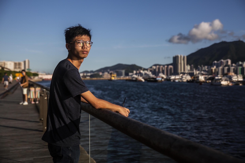 Tony Chung, 19 años, el 8 de agosto 2020 en Hong Kong