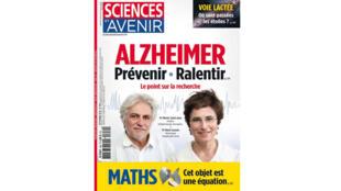 Couverture «Sciences et Avenir», Alzheimer: prévenir, ralentir.