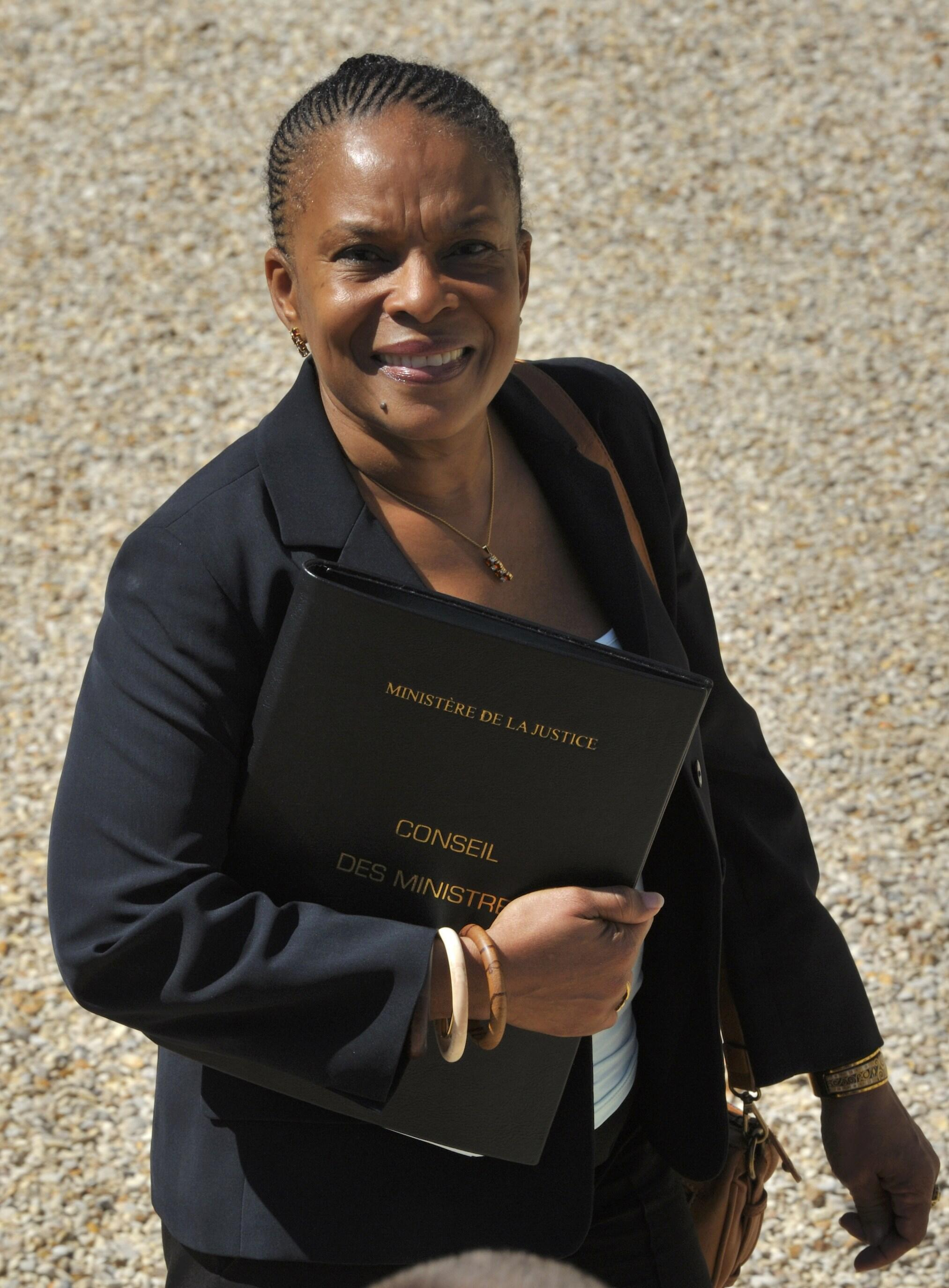 Justice Minister Christiane Taubiera