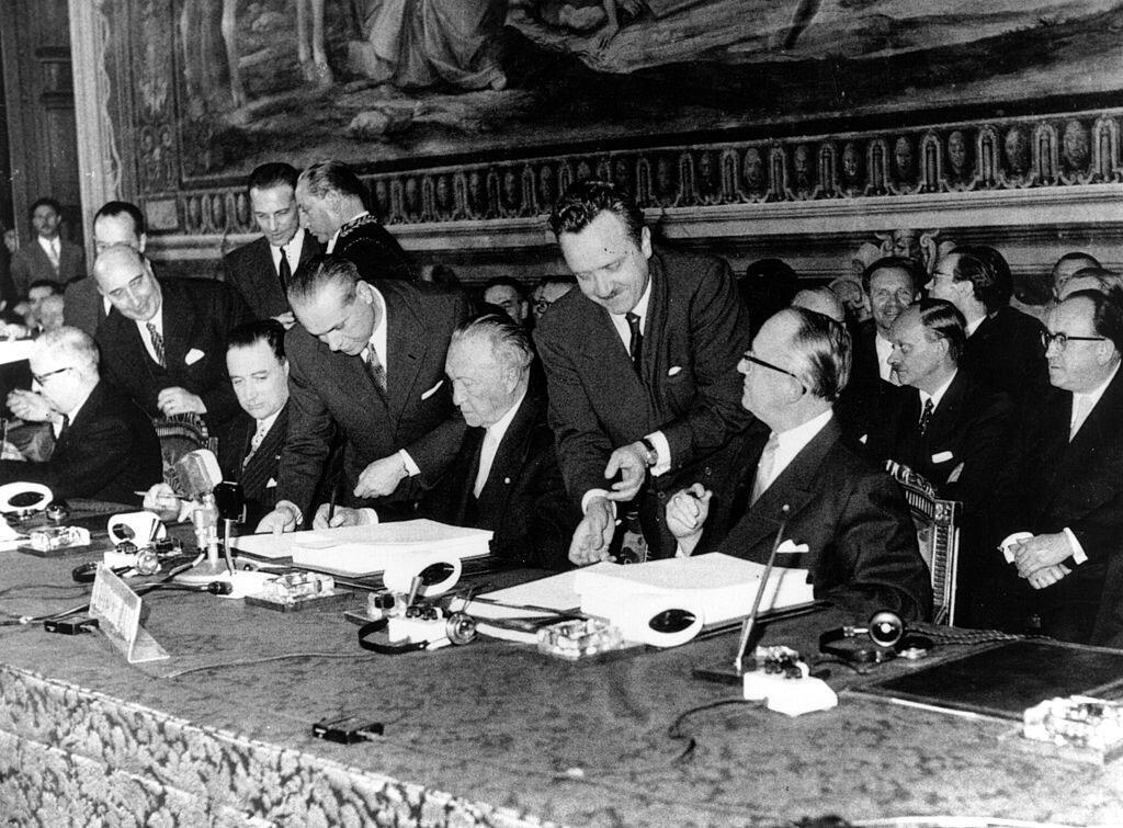 Signature du Traité de Rome, le 25 mars 1957.