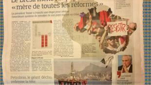 Página do jornal Le Figaro desta sexta-feira, 5 de maio.