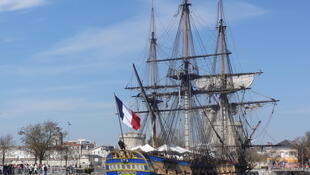 The Hermione docked in La Rochelle