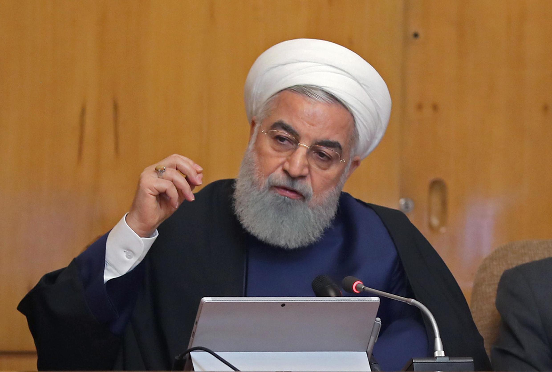 Tổng thống Iran Hassan Rohani, phát biểu trong cuộc họp chính phủ tại Teheran ngày 08/05/2019.