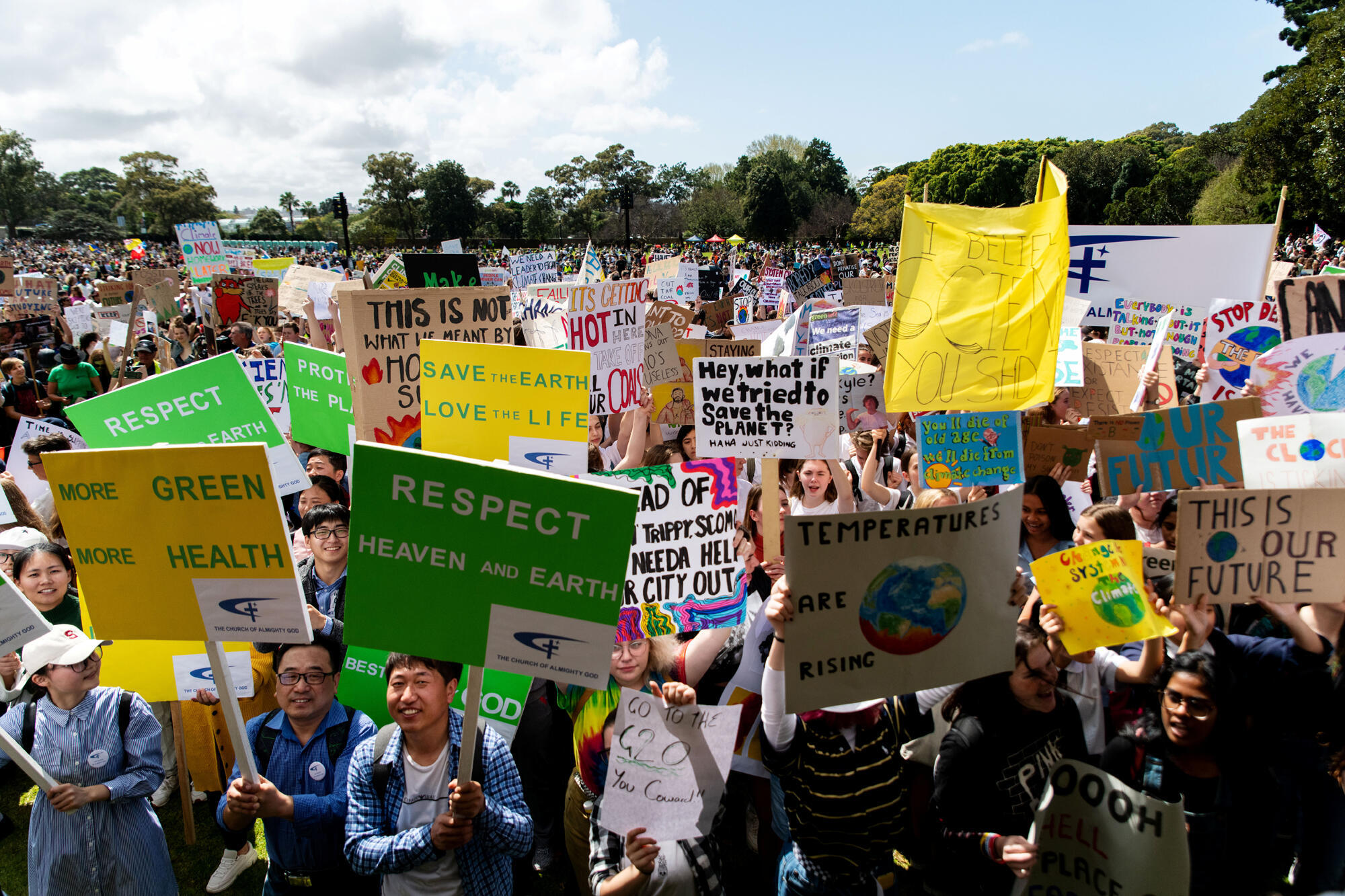 تظاهرات جهانی دانشآموزان برای مقابله با تغییرات اقلیمی در سیدنی