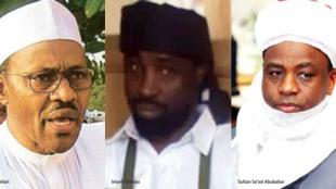 Tsohon Shugaban Najeriya Abubakar shekau da Muhammadu Buhari tsohon shugaban Najeriya da kuma Mai martaba Sarkin Musulmi Abubakar Saad na uku