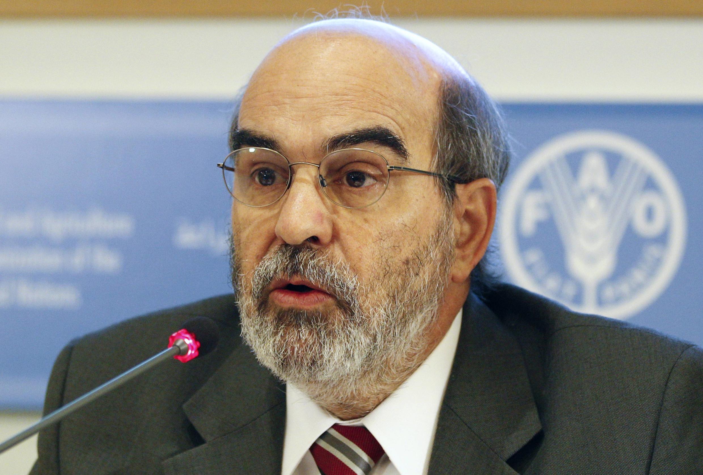 O brasileiro José Graziano da Silva deu hoje sua primeira coletiva de imprensa depois de assumir a direção-geral da FAO.