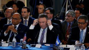 Ngoại trưởng Mỹ Mike Pompeo tại hội nghị Tổ chức các quốc gia châu Mỹ (OEA) lần thứ 48 tại  Washington. Ảnh ngày 4/06/2018.