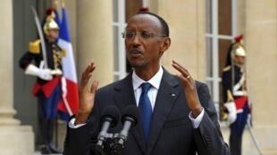 Rwandan President Paul Kagame in Paris in September